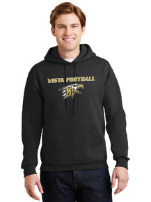 Jerzees Pullover Hoodie w/Vista Football Screen Print