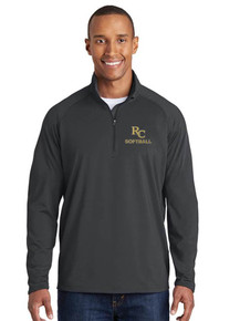 Men's 1/4 Zip Smooth Pullover - RC Softball