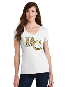 Ladies Fan Favorite V-Neck Tee - RC Softball