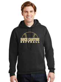 Jerzees Pullover Hoodie w/RC Softball Screen Print
