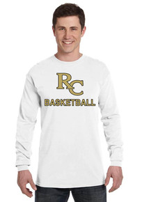 Comfort Colors Long Sleeve Cotton Tee with Rib Cuffs - RC Basketball