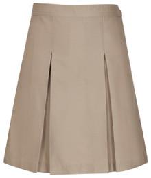 K-5th Grade Girls Skirt - Center Box Pleat - Khaki