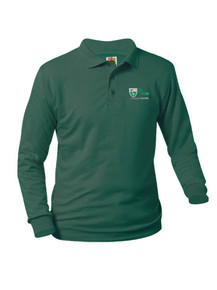 Jersey Knit Long Sleeve Polo Shirt with the St. Peter logo