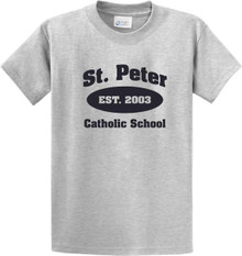 Cotton Short Sleeve T-Shirt with St. Peter Gym Logo