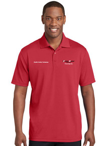 Men's Red Sport-Tek® PosiCharge® RacerMesh® Polo - EnviroMaster