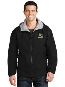 Men's Black Port Authority Team Jacket  with embroidered RC Tennis