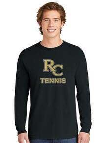 Comfort Colors Black Unisex Long Sleeve Ring Spun TShirt - RC Tennis