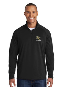 Men's Black 1/4 Zip Smooth Pullover with embroidered RC Tennis
