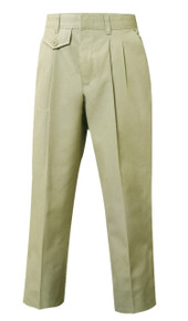 Discontinued Girls Pants - Pleated Front - Khaki