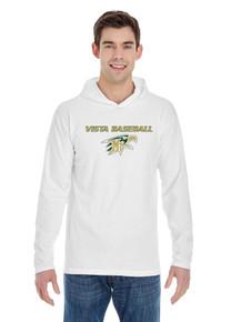HeavyWeight RingSpun White Hooded Shirt  - Mtn. Vista Baseball