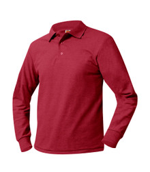 Pique Knit Long Sleeve Polo Shirt - PPA