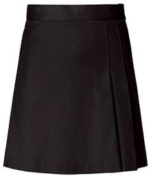 Girls Skort - 2 Pleat Front & Back - Black