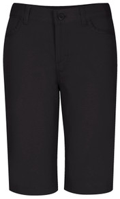 Adjustable Girls Matchstick Stretch Shorts - Black