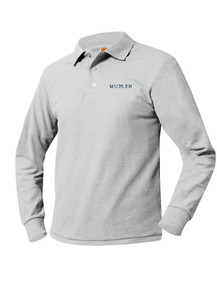 Pique Knit Long Sleeve Polo Shirt - MULLEN
