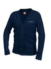 Unisex V-Neck Cardigan Sweater - MULLEN