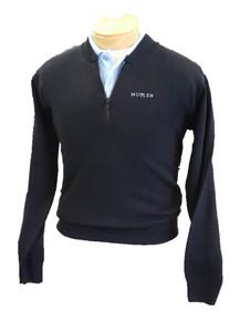 Navy Sweater 1/4 Zip - MULLEN
