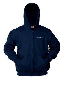 Navy Full Zip Hooded Sweatshirt - MULLEN