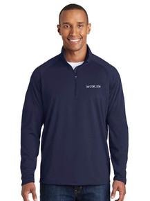 Navy 1/4 Zip Smooth Pullover - Mullen