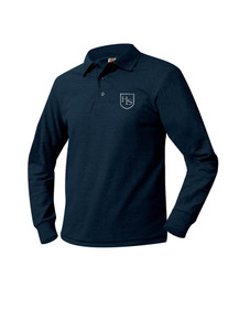 Pique Knit Long Sleeve Polo Shirt -  HL