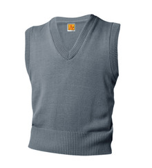 V-Neck Pullover Sweater Vest - Gray