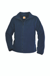 Navy Zip-Front Fleece Jacket - MHS