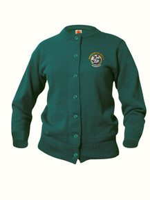 Female Crew-Neck Cardigan  with/HPA embroidery