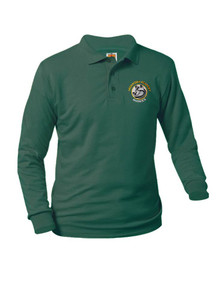 Jersey Knit Long Sleeve Polo Shirt -HPA