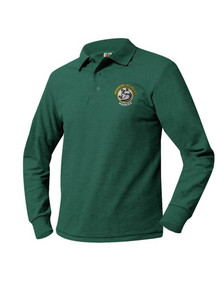 Pique Knit Long Sleeve Polo Shirt - HPA