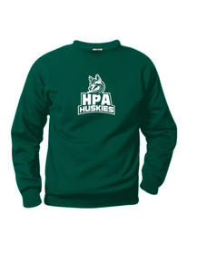 Crew-neck Fleece Sweatshirt  with HPA heat press
