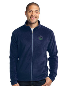 Navy Port Authority Microfleece Jacket - AOC