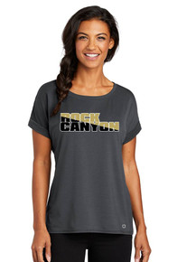 *New Ogio Ladies Luuma Cuffed T-Shirt - RC Football
