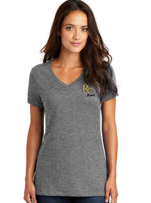 Ladies Perfect Weight VNeck Tee - RC Poms