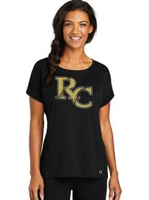 *New Ogio Ladies Luuma Cuffed T-Shirt - RC Softball