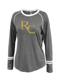 *New Ladies Ringer Stripe Crew - RC Softball