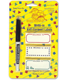 Write-In Kids Garment Labels