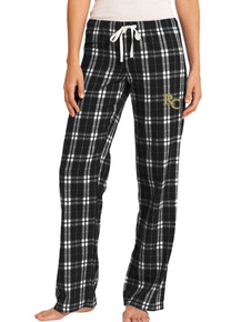Black/White Juniors Flannel Pants - RC Volleyball