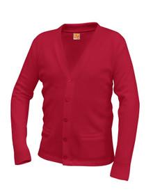 Unisex V-Neck Cardigan Sweater - Caprock