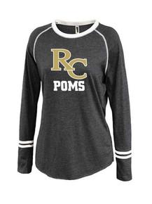 Ladies Ringer Stripe Crew - RC Poms