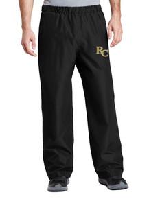 Black Waterproof Pants with RC Heat Press