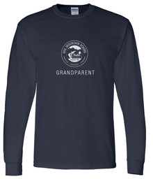 Grandparent Navy Gildan 50/50 DryBlend Long Sleeve - VMS