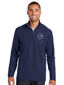 Men's Navy Pinpoint Mesh 1/2-Zip - New Summit
