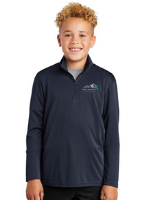 Navy Youth PosiCharge 1/4 Zip - New Summit