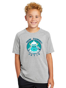 Youth PosiCharge Tri-Blend Wicking Raglan Tee - New Summit