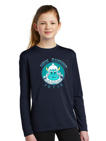 Youth Navy Long Sleeve Performance Tee - New Summit