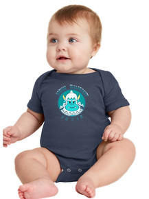 Infant Navy Short Sleeve Baby Rib - New Summit