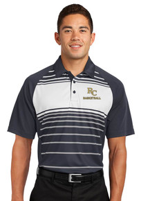 DryZone Men's Sport-Tek Stripe Polo - RC Basketball