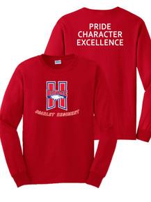 Red Long Sleeve Cotton T-Shirt - Scarlet Regiment