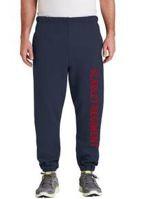 Sweatpants w/Scarlet Regiment down leg