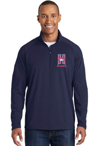 Men's 1/4 Zip Smooth Pullover with Embroidered Logo - Heritage Bands