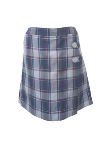 All Grades Girls Skort - 2 Button Tabs in Plaid 82